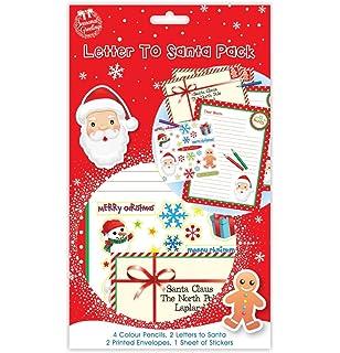 Carta a Papá Noel Pack – contiene 4 lápices de colores, 2 cartas a Papá