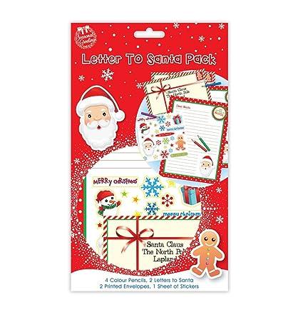 Carta a Papá Noel Pack - contiene 4 lápices de colores, 2 ...