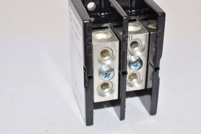 SQUARE D 9080LBA262101 Pwr Dist Block,175A,2P,2//0-14 AWG,600VAC