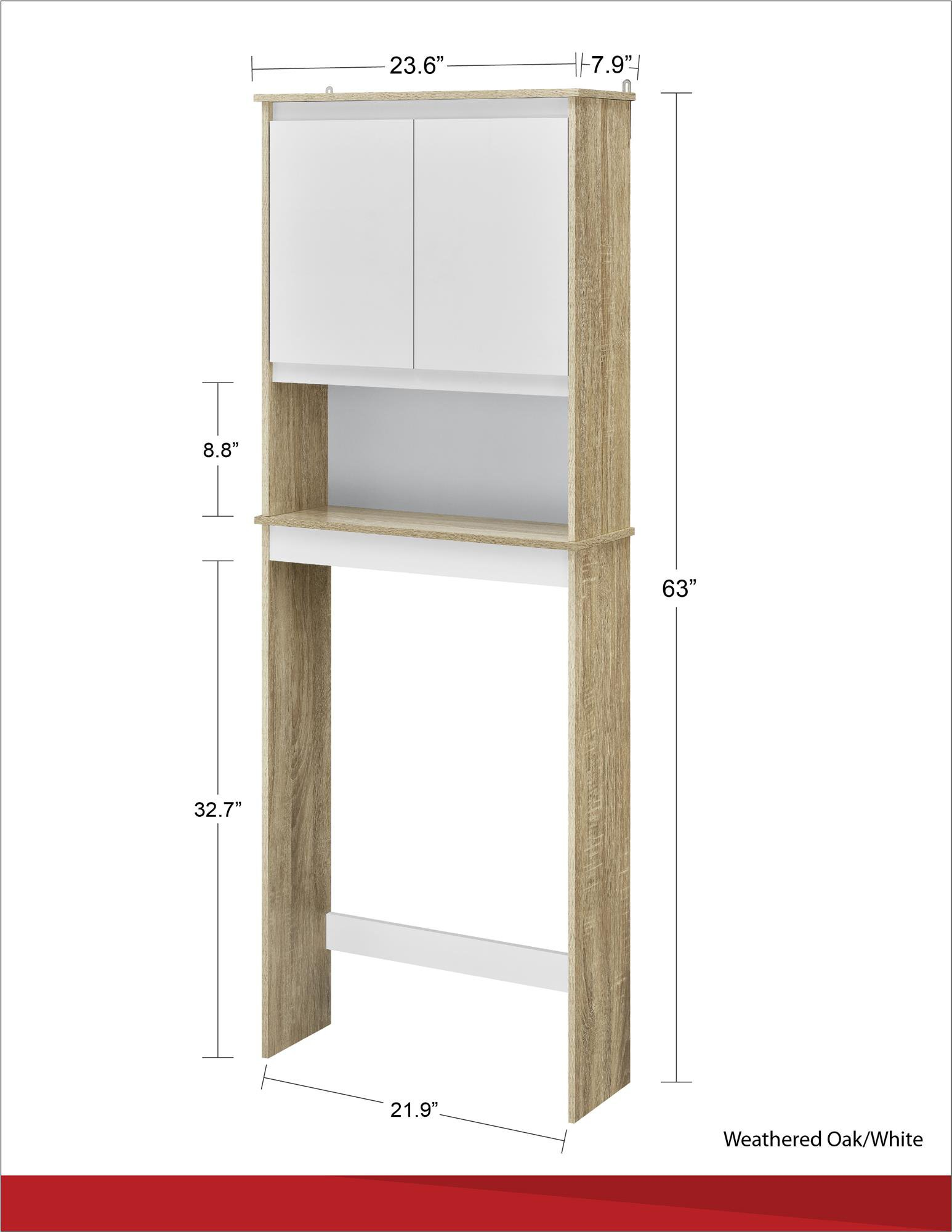 Ameriwood Home Stafford Storage Cabinet Weathered Oak by Ameriwood Home (Image #11)