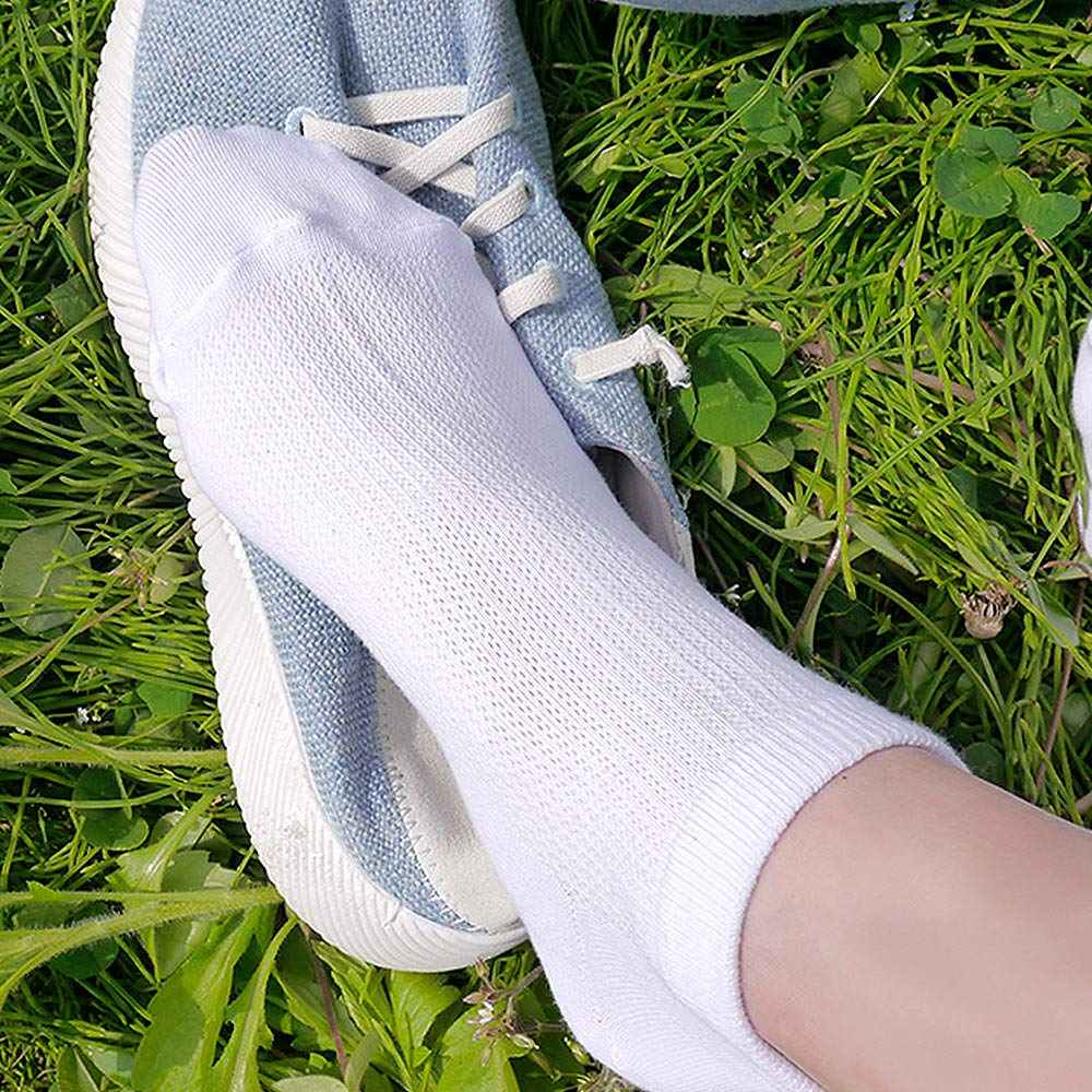 3 to 12 Pairs CUTIE MANGO Womens Casual Breathable Mesh Low Cut Ankle Sneaker Socks Basic Colors