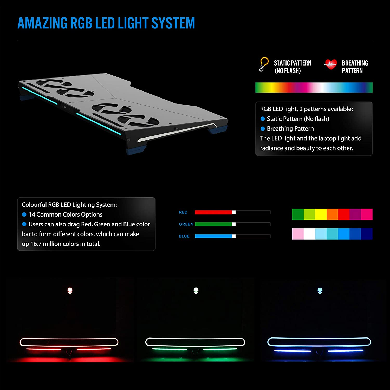 M15R2 M15R1 M17R2 Giryriz Smart Laptop Cooler Cooling Pad for ...