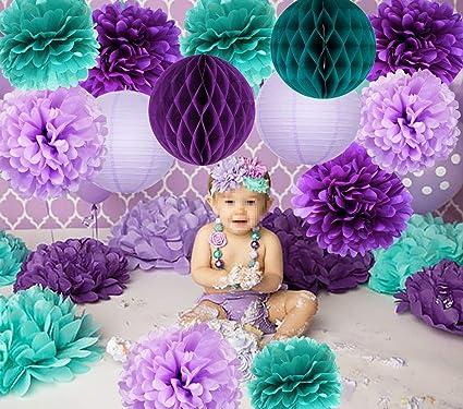 Amazon Com Mermaid Party Supplies 16pcs Mermaid Party Decorations