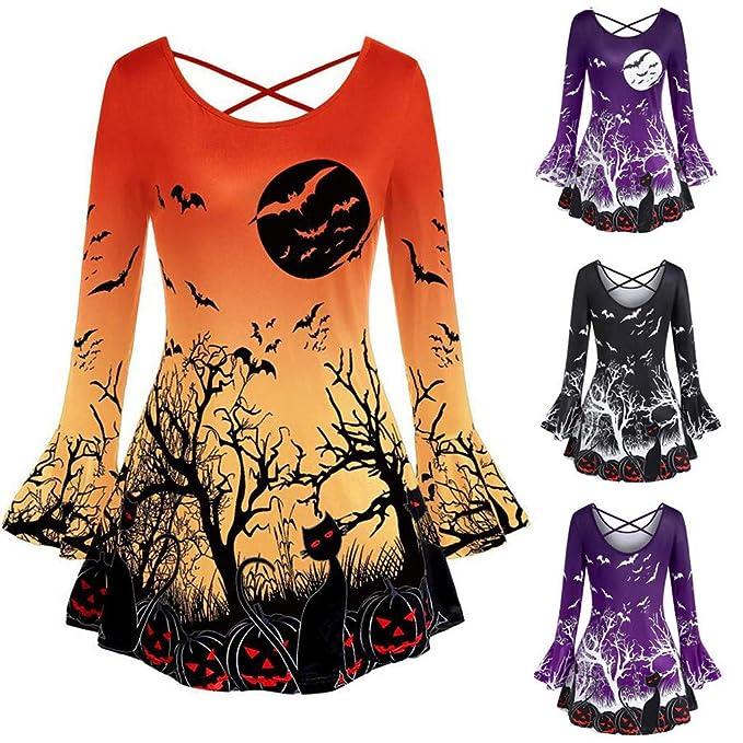 Vestidos de Halloween Invierno Mujer Largos Gato con ...