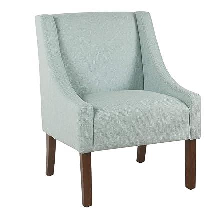 Amazon.com: Benjara BM194038 Wooden Accent Chair with Stripe ...