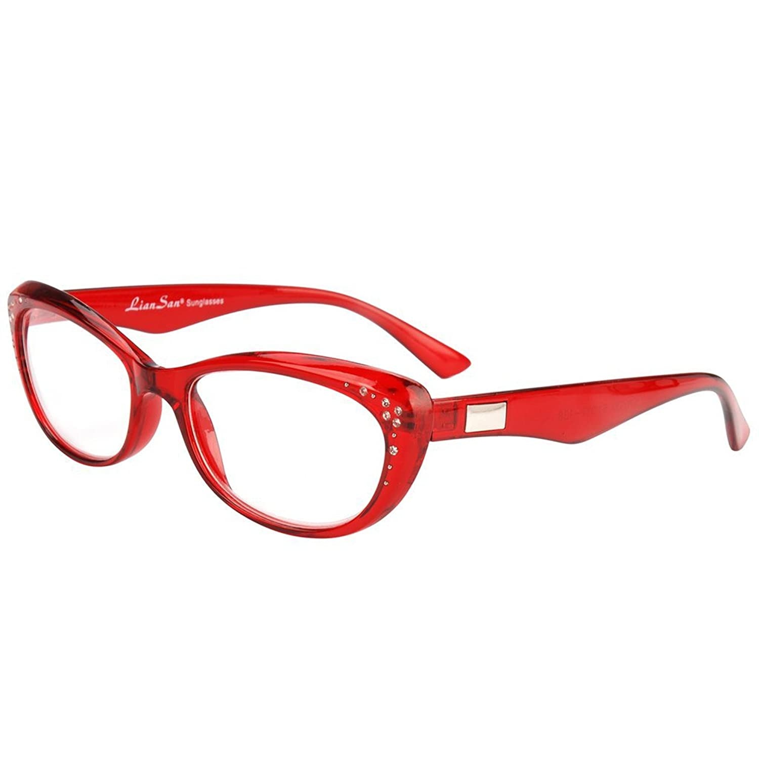 108ffdfc2768 Amazon.com  LianSan womens designer wayfarer compact cat eye retro fashion  reading glasses 1.0 1.25 1 .5 1.75 2 00 2.25 2.50 2.75 3.0 3.25 3.5 4.0  L3705 red ...