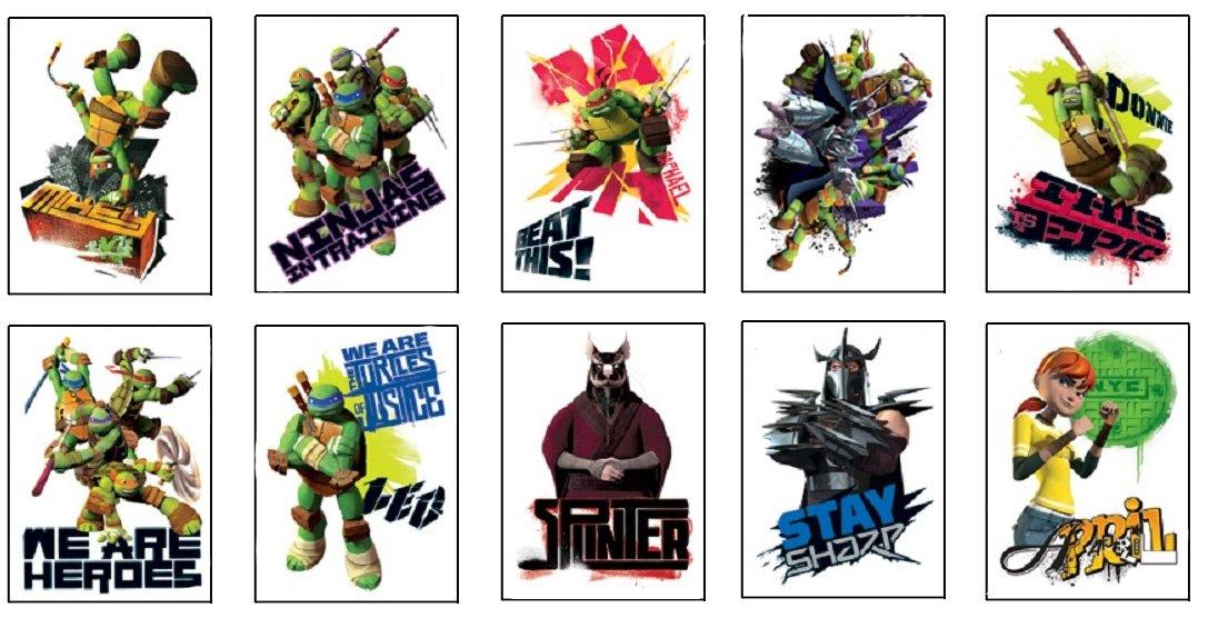 10 Teenage Mutant Ninja Turtle Tattoos - Set of 10 TMNT Tats