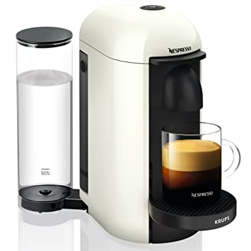Krups Nespresso Yy3916Fd Máquina de café Nespresso Vertuo + Más Ponga una cápsula de Espresso En Lungo Taza Alto Blanc: Amazon.es: Hogar