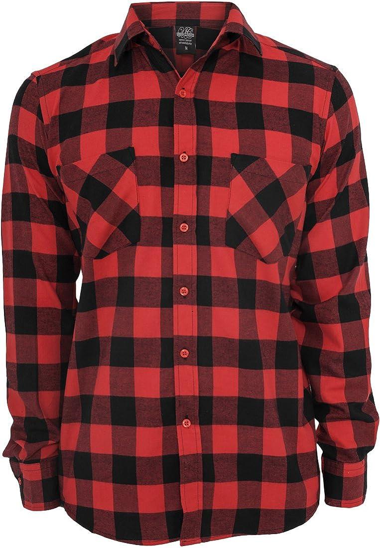 Urban Classics Bekleidung Checked Flanell Shirt  Uomo