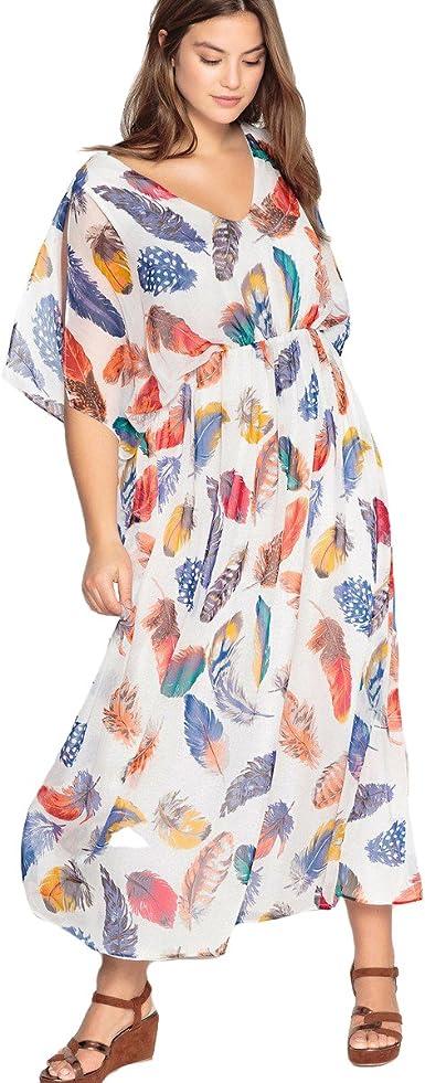 Castaluna Robe Femme Multicolore Taille Unique 56 Amazon Fr Vetements Et Accessoires
