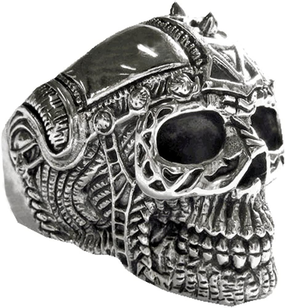 viva adorno® Totenkopf Ring Streihelm 925 Silber SR34