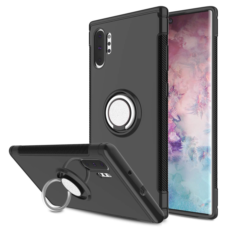 Funda Para Samsung Note 10 Plus Con Anillo De Soporte, Negro