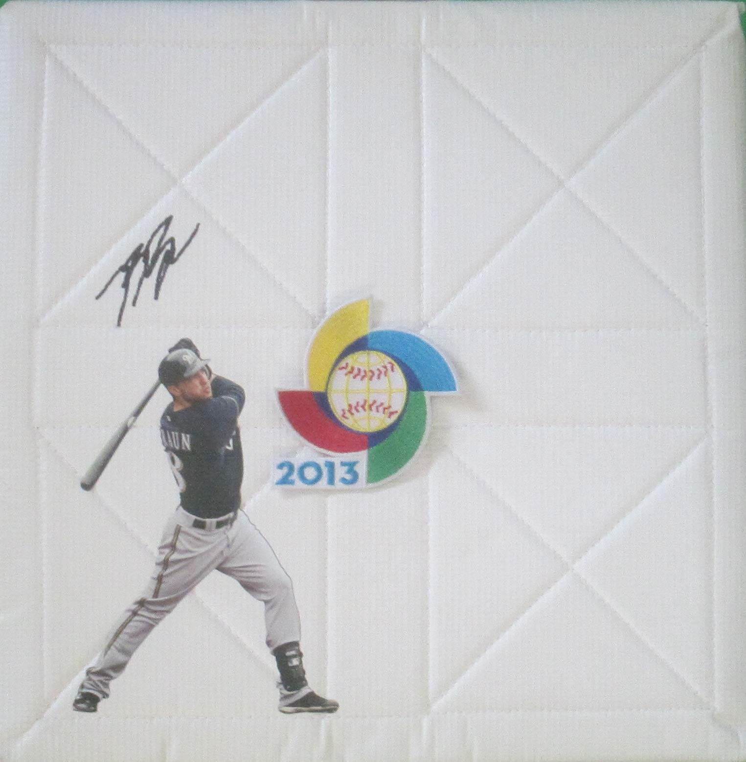 Milwaukee Brewers Ryan Braun Autographed Hand Signed 2013 World Baseball Classic Logo Photo Full Size Base with Proof Photo of Signing, Team USA, COA