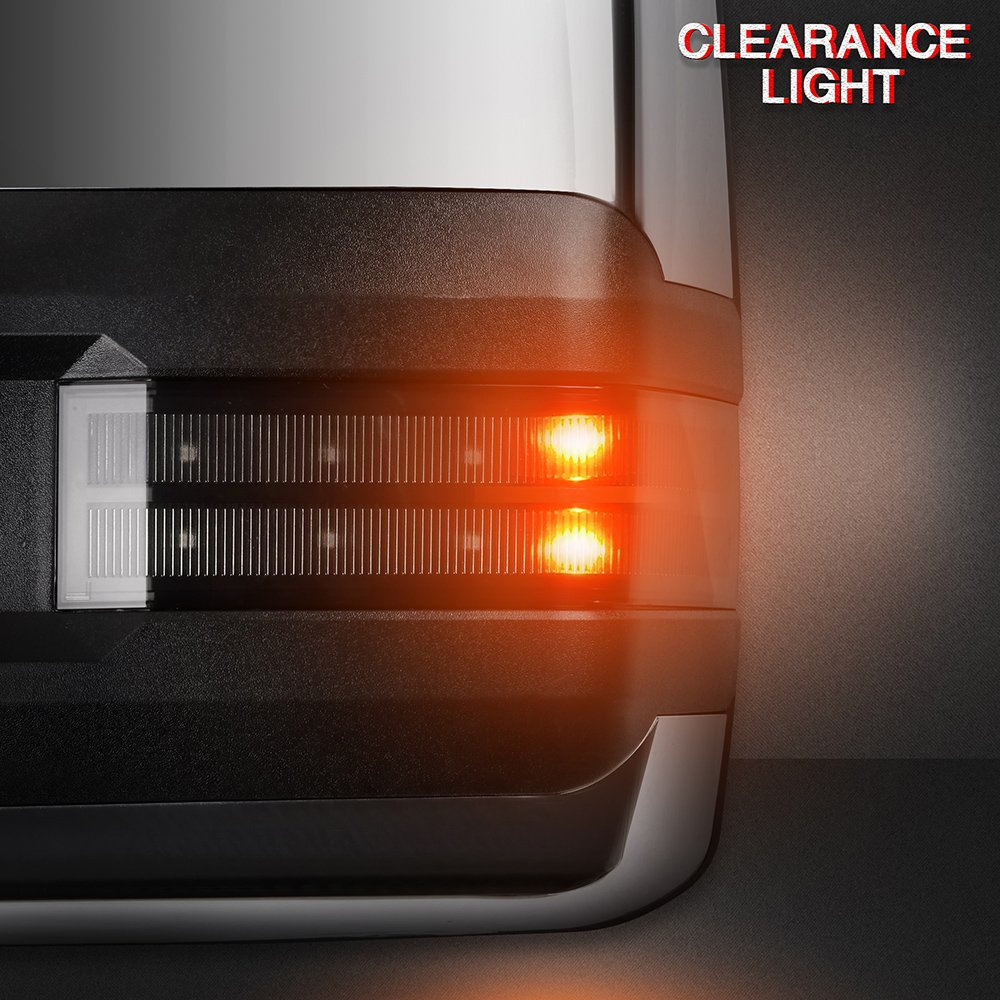 ECCPP Towing Mirrors A Pair of Exterior Automotive Mirrors for Chevy GMC 2014-2018 Silverado//Sierra with Puddle Clearance Lights Indicator Power Heated Chrome Housing 065191-5211-1508485891