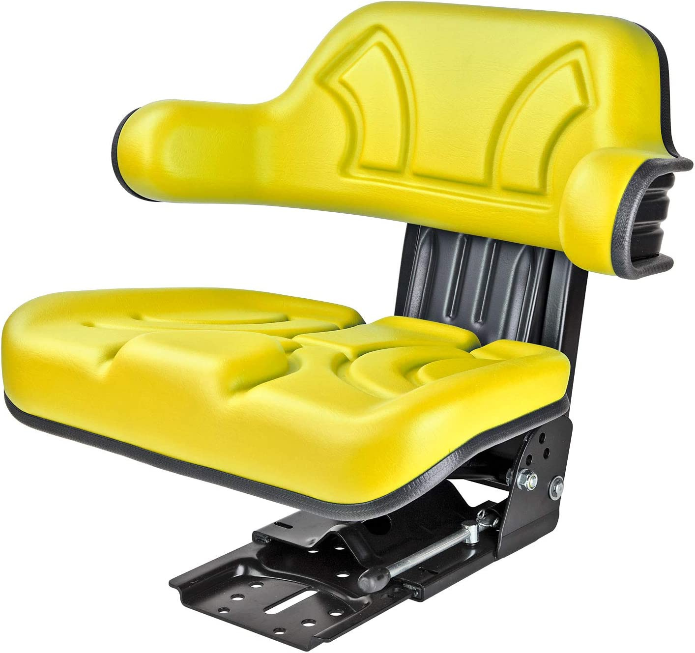 DEMA Traktorsitz schleppersitz Traktor Schlepper Sitz STAR10 gelb mit Armlehne