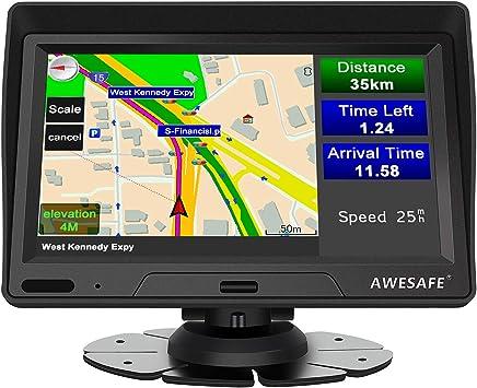 Navigationsgerät Für Auto Lkw 7 Zoll Gps Für Motorrad Autobus Taxi Vorinstalliert Europa Karte Sprachwarnung Geschwindigkeitsbegrenzung Kostenlose Updates Für Lebenslange Karten Navigation