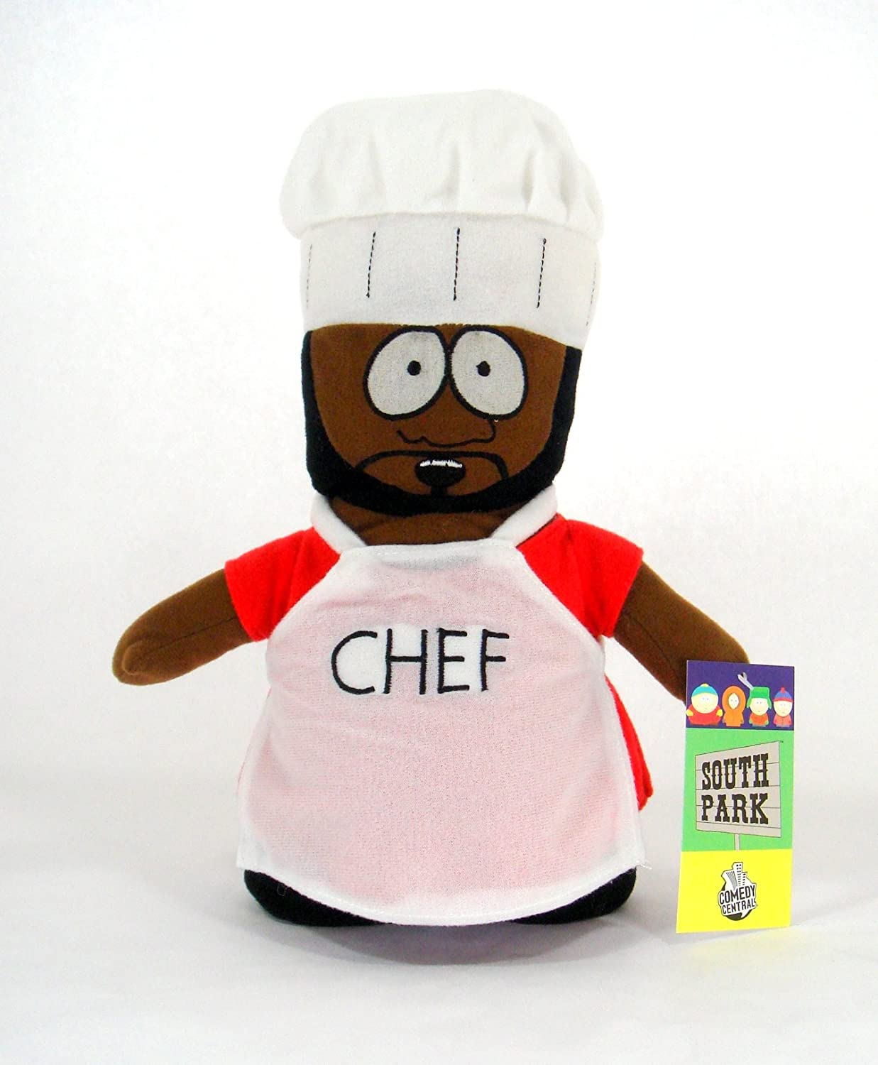"""SOUTH PARK CHEF PLUSH SMALL SOFT STUFFED DOLL TOY FIGURE LICENSED 7/""""-8/"""" NEW"""