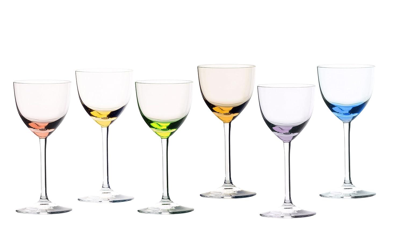 Sèvres vetro Turckeim Cadeaux-Set di 6 bicchieri per grappa Cristal de Sèvres