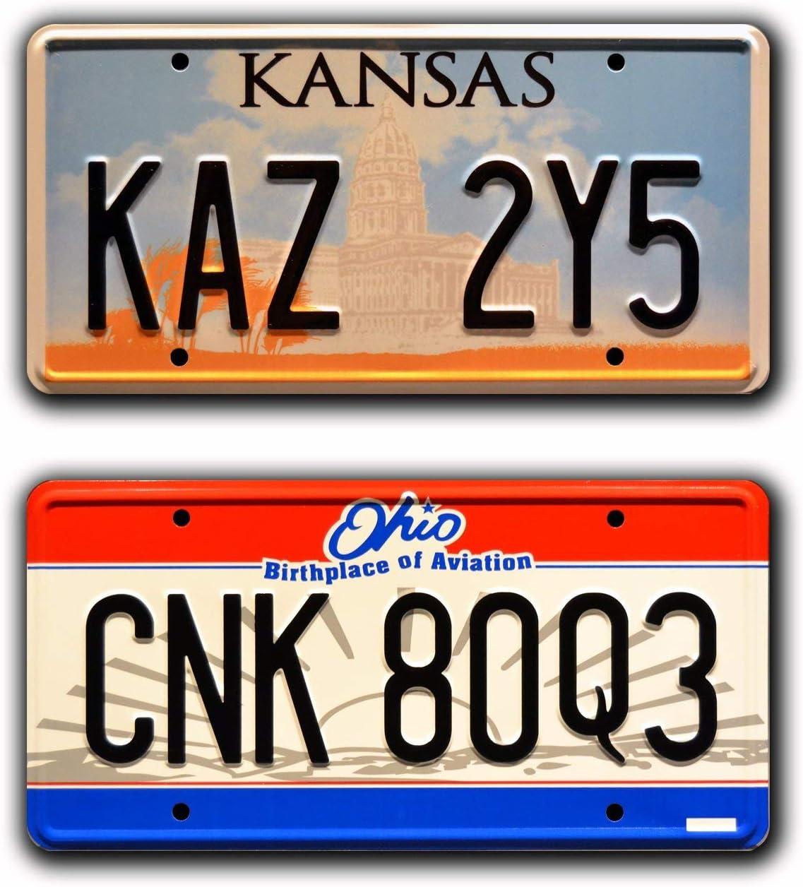 Metal Stamped Vanity Prop License Plate Supernatural CNK 80Q3 Dean Winchester/'s Metallicar