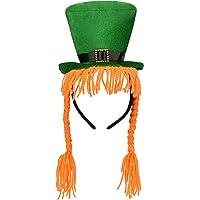 933b656a7a5 Jovitec Green Hat Headband with Orange Braids Mini Top Costume Hat Headband  for St Patrick s Day