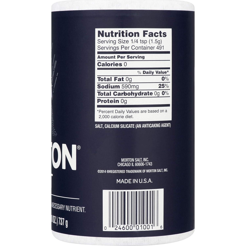 Morton Salt Regular Salt - 26 oz : Flavored Salts : Grocery & Gourmet Food