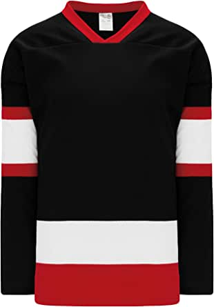 Amazon.com: Ottawa Black, Red, White Sleeve Stripes Pro