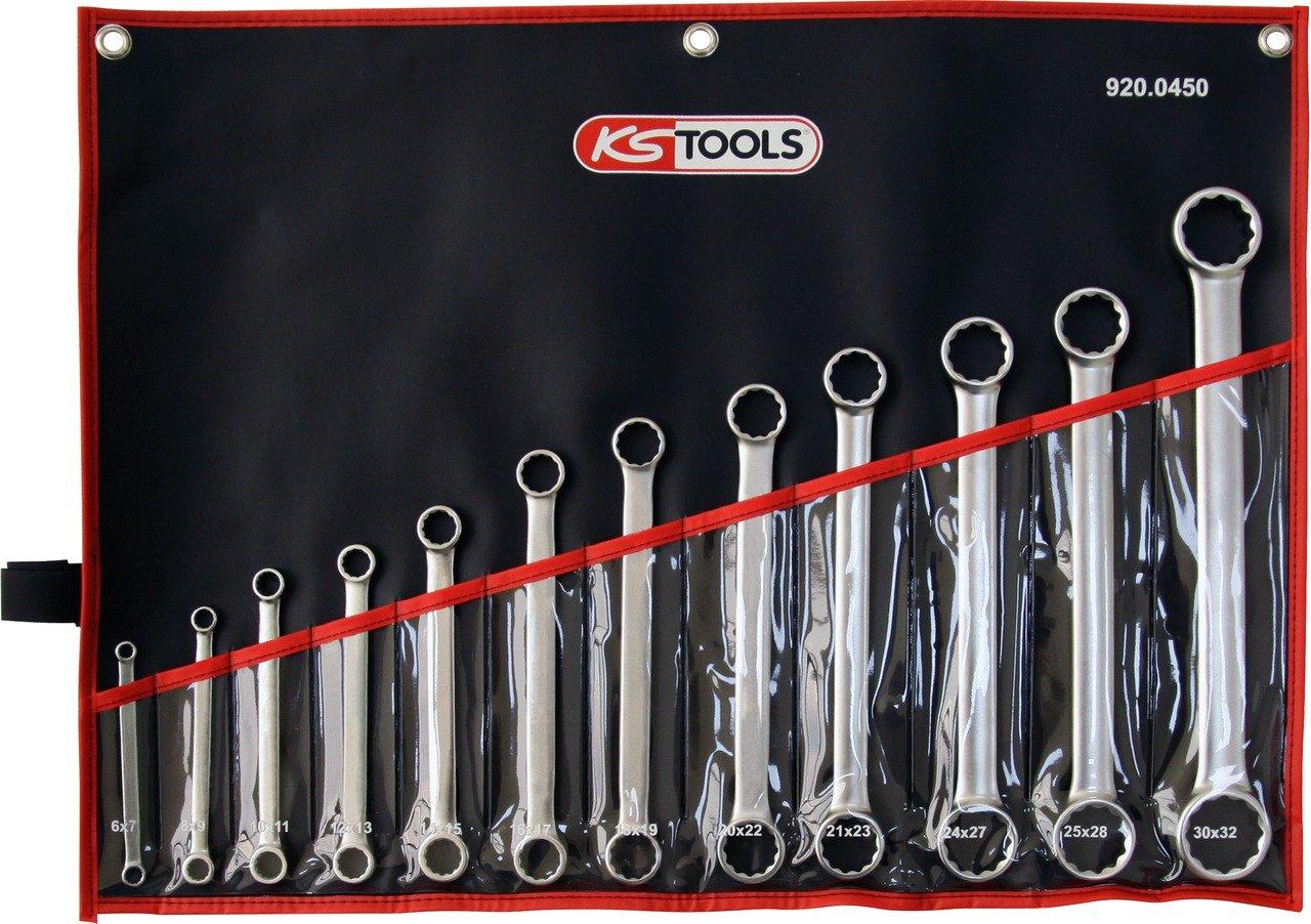 KS Tools 920.0450 ULTIMATEplus Doppel-Ringschl/üssel-Satz 12-tlg. gerade