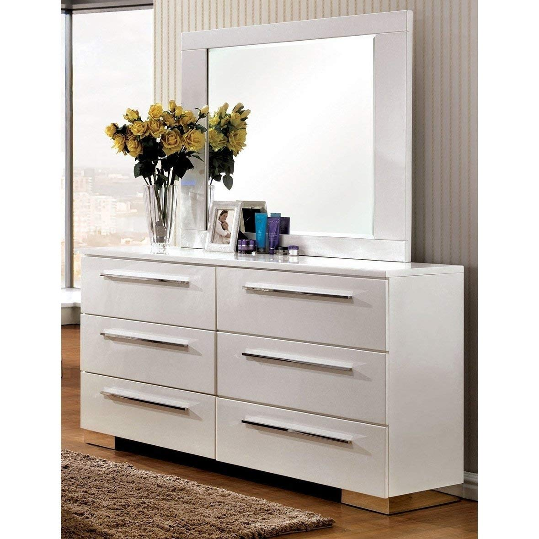 . Amazon com  Furniture of America Rema Contemporary 2 Piece White