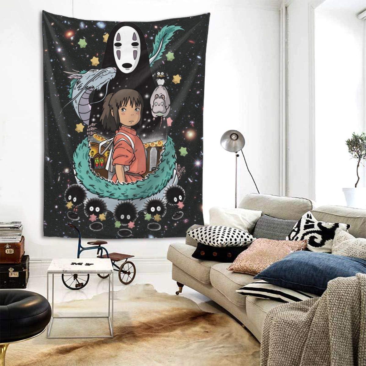 Boniuniu Spirited Away Art Studio Ghibli Large Home Decoration Tapestry for Room Wall Hanging Mural Bedroom Living Room – 80 x 60