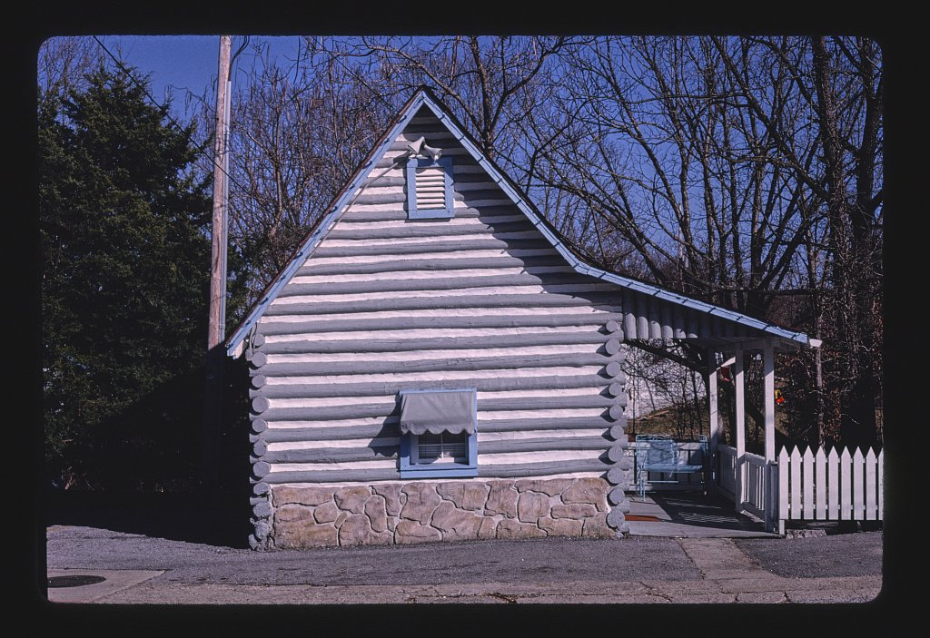 Vintography 16 x 24 Photo of Log Cabin Inn Motel, Eureka Springs, Arkansas 1994 Ready to Frame 03a