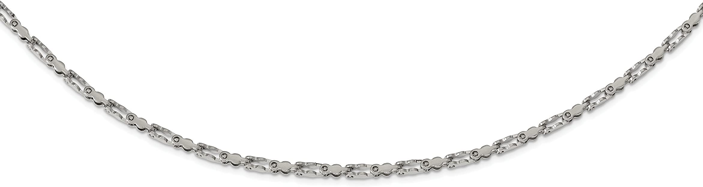 Kira Riley Stainless Steel Polished Fancy Link 18in Chain