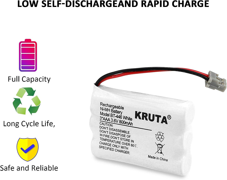 BT-1005 BT1005 TRU9465 TCX-800 TRU9480 BP-446 BP446 Pack 3 Kruta BT-446 Rechargeable Cordless Phone Battery for Uniden BT-446 BT446 TRU9460