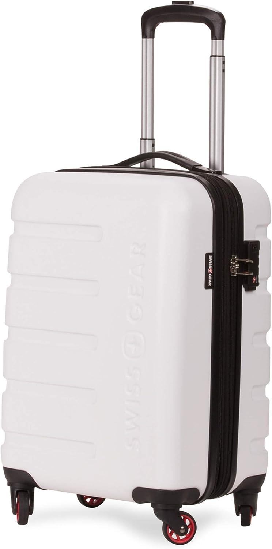 SWISSGEAR 7366 Expandable Hardside Spinner Carry-On, White