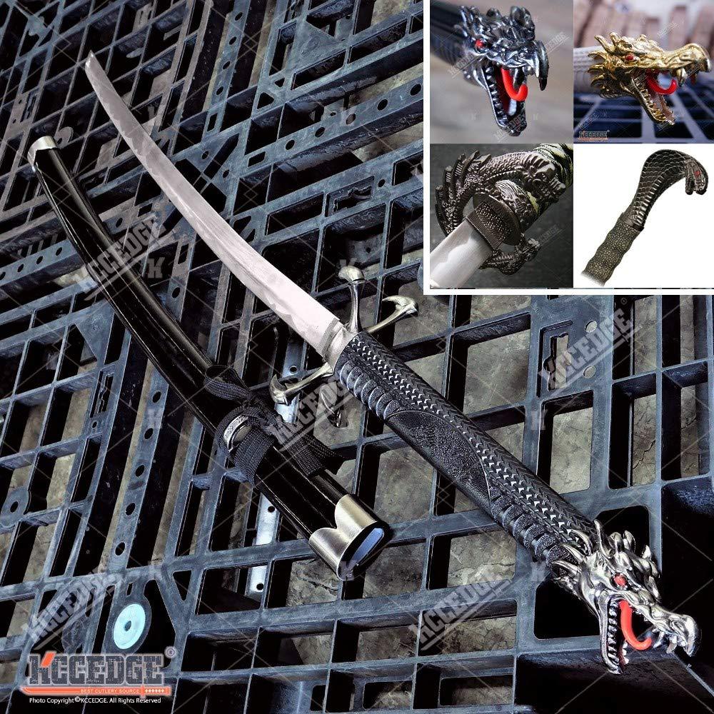 Katana Sword Dragon Samurai Sword Real Swords with Metal Blades Japanese Martial Arts Training Sword Practice Sword Tactical Ninja Sword Real Sword Samurai Costume Sword 50247