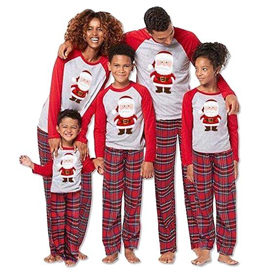 Matching Christmas Family Santa Pajamas for Mom Dad Kids Sleepwear Set  Nightwear  Amazon.ca  Clothing   Accessories ea033e198
