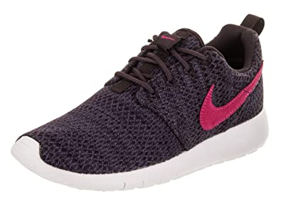 low priced bd2be 30e4d Nike Youth Roshe One Grade School Port Wine Pink Prime Fabric Trainers 36.5  EU