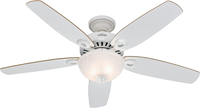 Hunter Fan 50570 Builder Deluxe - Ventilador de techo con luz blanco
