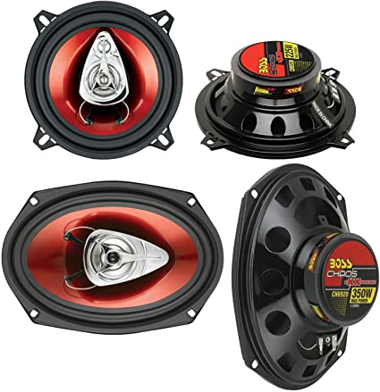 "2 New BOSS CH5530 5.25/"" 3-Way 225W Car Audio Coaxial Speakers Stereo PAIR Red"
