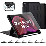 TSOMEI CASE for New iPad Pro 11 Inch 2nd&1st Generation 2020/2018 with Tempered Glass Screen Protector - 7 Angles…