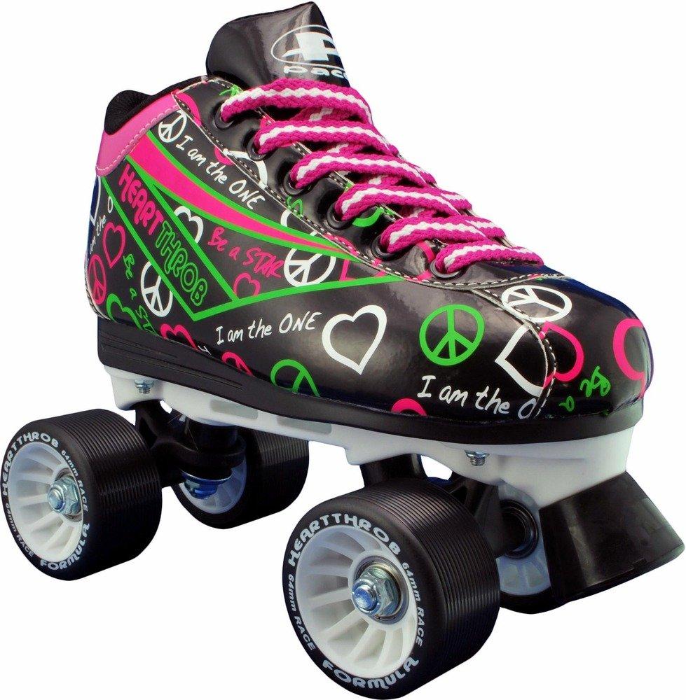 Pacer Heart Throb Black Rink Roller Skates