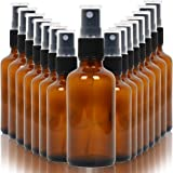 Youngever 16 Pack Empty Amber Glass Spray Bottles, 2 Ounce Empty Refillable Containers