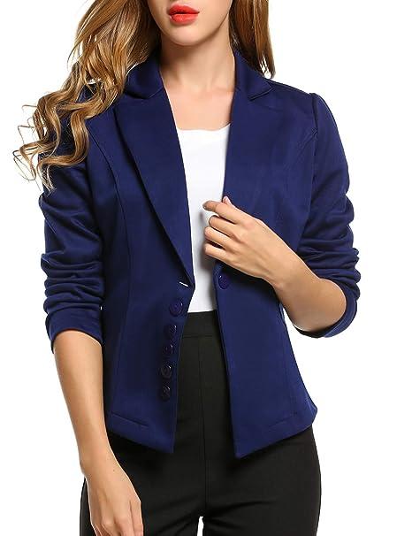 Amazon.com: Bifast manga larga chaqueta de punto de la mujer ...