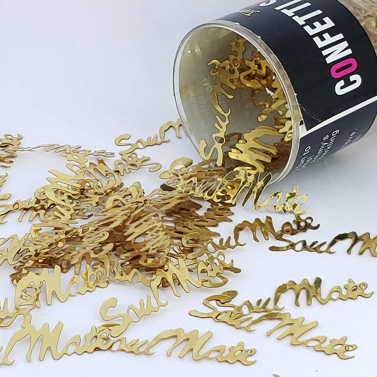 Confetti Word Soul Mate Gold - One Pound (16 oz) Free Priority Mail (7717) by Jimmy Jems (Image #1)