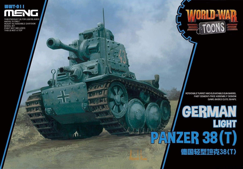 MNGWWT011 Meng World War Toons - ジャーマンライトタンクパンザー 38(T) [モデル組み立てキット] B07JVGSN6P