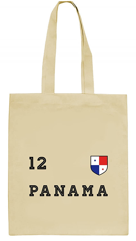 ShirtStreet Wappen Fußball WM Fanfest Gruppen natur Jutebeutel Stoffbeutel Tote Bag Trikot Panama, Größe: onesize,natur