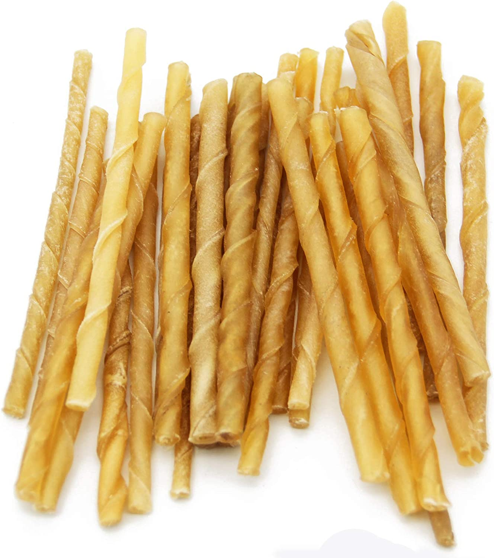 30 Pcs Hueso Prensado Stick para Perros Piel Vacuno Fortalecedor de Dientes Stick Dental Dog Snack (30 Pcs) BPS-5031 * 3