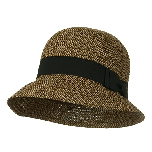 64243fd08184d Cloche Ribbon Round Crown Hat - Brown Tweed OSFM. Roll over image to zoom  in. Jeanne Simmons