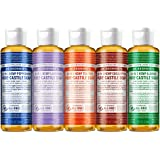 Dr. Bronner's - Pure-Castile Liquid Soap (4 Ounce Variety Pack) Peppermint, Lavender, Tea Tree, Eucalyptus, Almond - Made wit