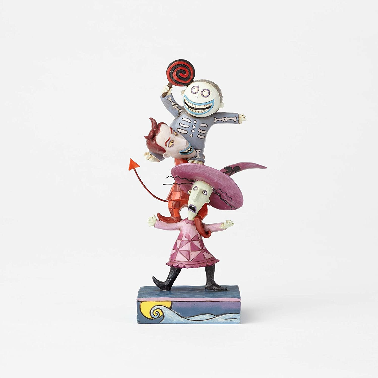 Nightmare before Christmas Jim Shore Disney Traditions by Enesco Lock Shock and Barrel Stacked Figur