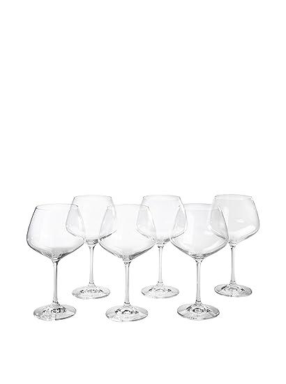 Martin Berasategui Pack 6 Copas Crystalex De Vino De Cristal De Bohemia